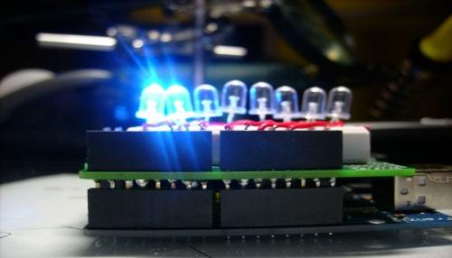 Montage Arduino d'une chenille à LED