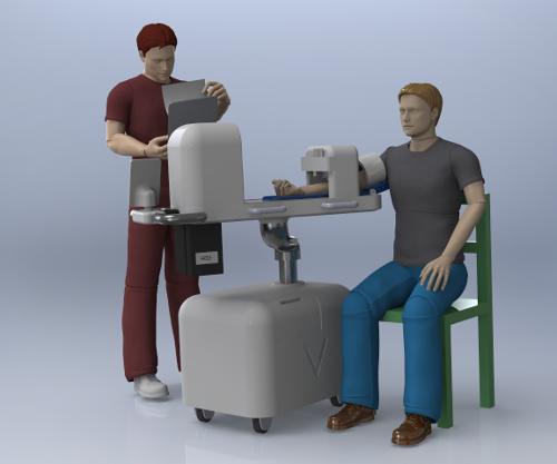 Prise de sang avec le robot développé par Veebot
